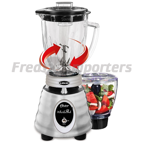 Oster Classic Series Whirlwind™ Blender PLUS Food Chopper Brushed Stainless