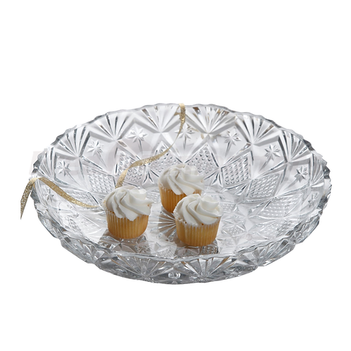 Jewelite 30.5cm Round Glass Platter