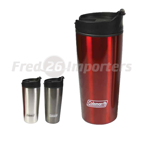 Coleman 16oz Stainless Steel/PP Travel Mug