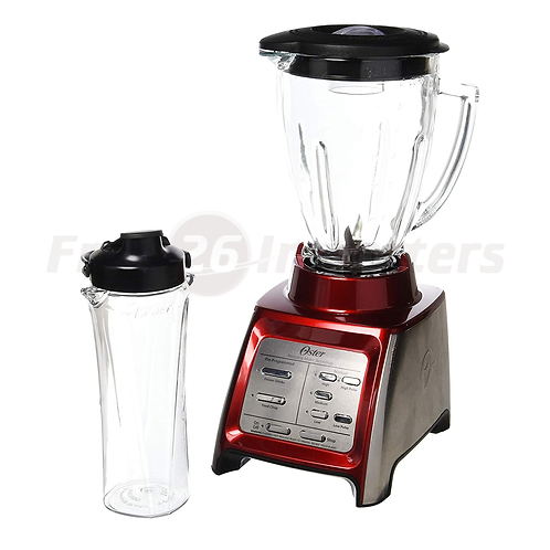 Oster Dual Action 7 Speed Blender w/ Smoothie Cup, Red