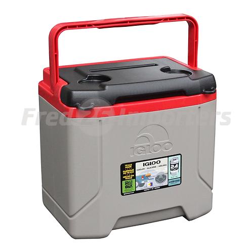 Igloo 16Qt Profile Cooler, Sandstone/Blaze Red