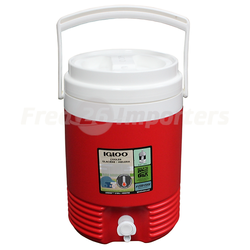 Igloo 2 Gallon Legend Water Cooler, Red