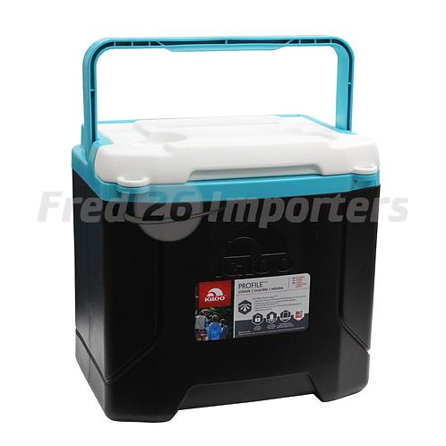 Igloo 16Qt Profile Cooler, Black/Turquoise