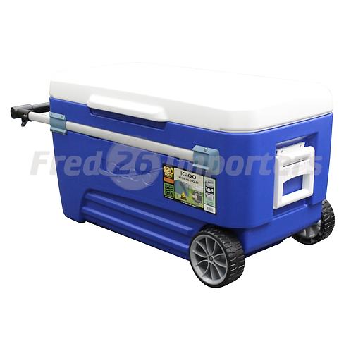 Igloo 110Qt Glide Wheeled Cooler, Blue