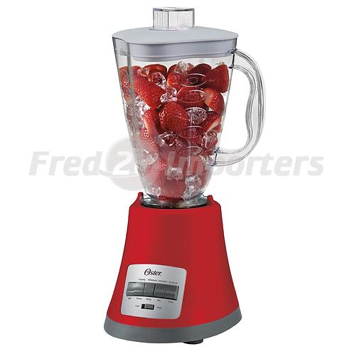 Oster 8 Speed Plastic Blender, Red
