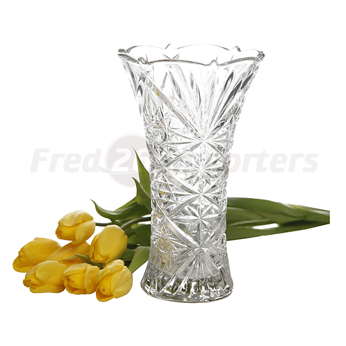 Jewelite Flower Vase, Clear Glass