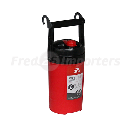 Igloo 1/2 Gallon Sport Beverage Cooler w/ Chain Link Hooks, Red