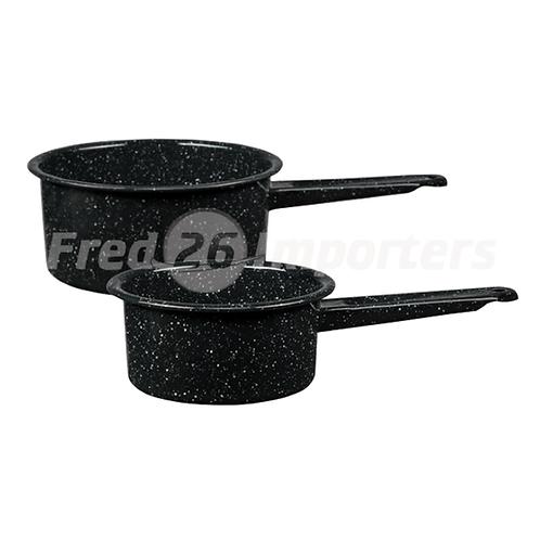 Granite Ware  1Qt & 2Qt Saucepan Set Black