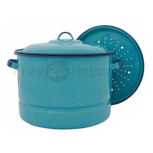 34Qt Steamer Pot w/ Lid & Trivet