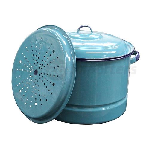 20Qt Steamer Pot w/ Lid & Trivet