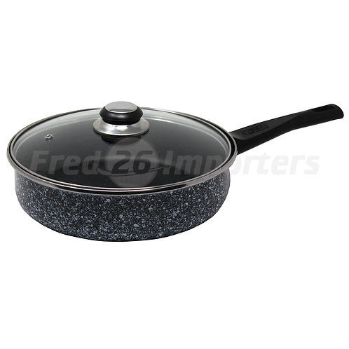 2.5Qt Low Casserole w/ Glass Lid Granite