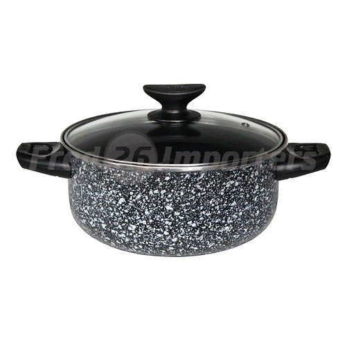 3.5Qt Dutch Oven w/ Glass Lid Granite