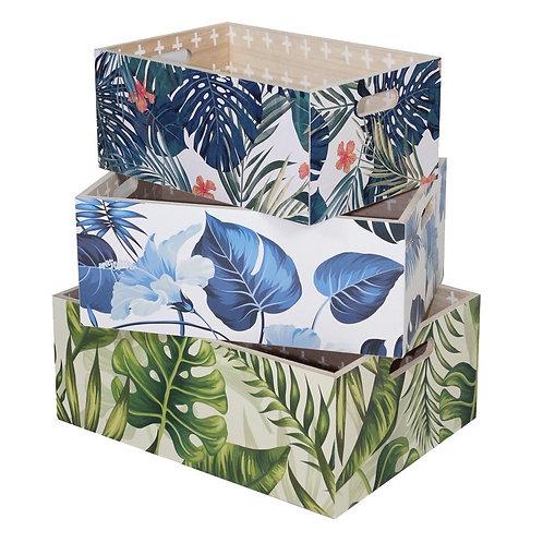 Cajas de madera coloridas