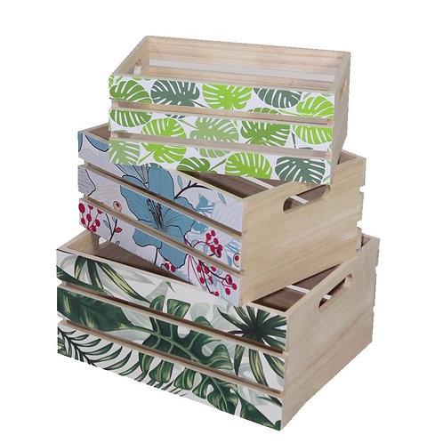 Cajas de madera con rejillas