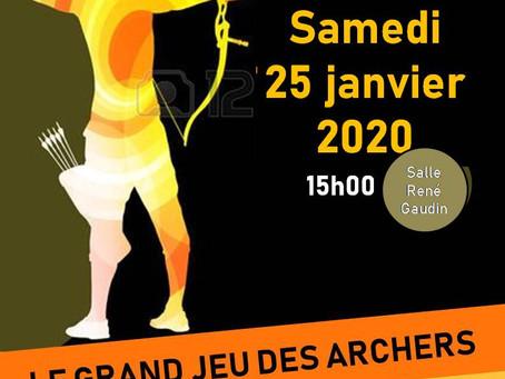 Grand jeu des Archers du 25/01/2020