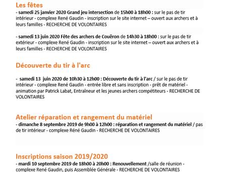 Agenda 2019 - 2020
