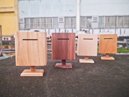 郵筒造型木製錢箱錢罌