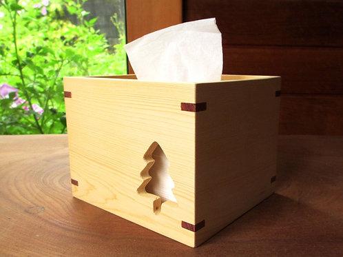 小樹方形紙巾盒
