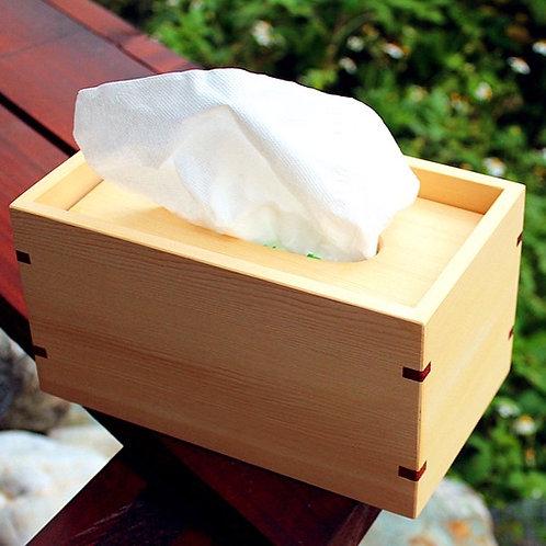 原木紙巾盒