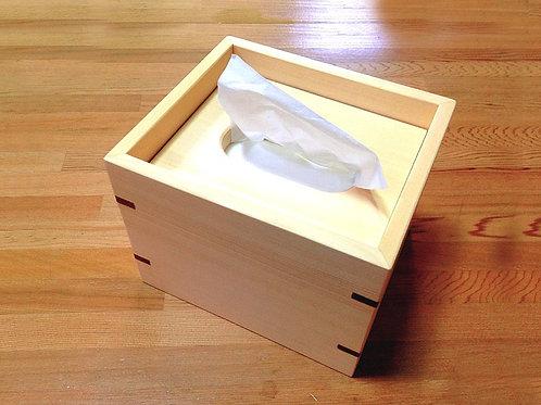 原木方形紙巾盒