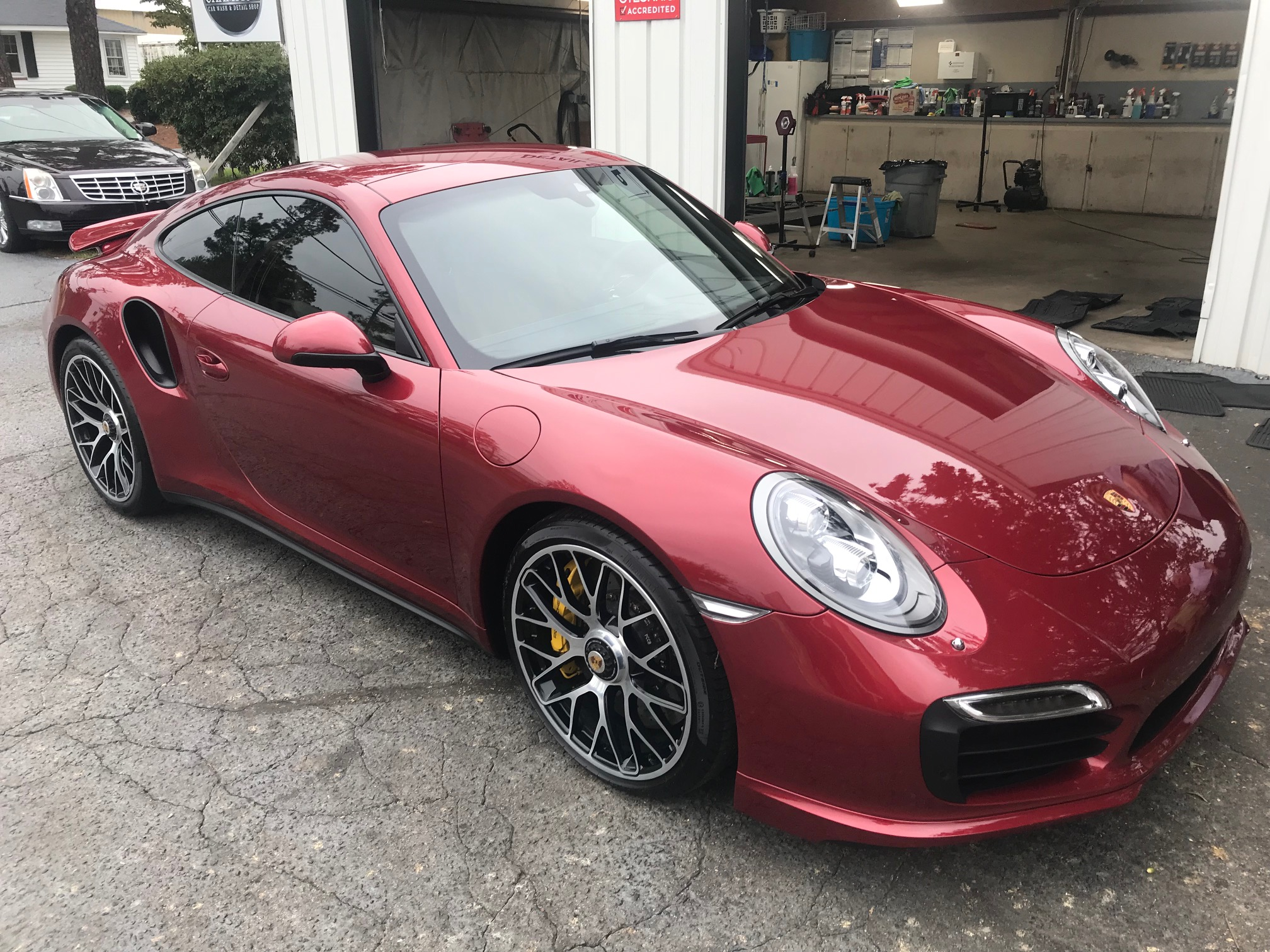 2015 Porsche 911 Turbo S in Ruby Red