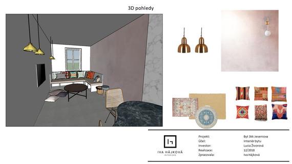 Návrh interiéru bytu Iva Hájková