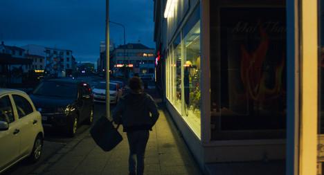 Laugavegur at Night