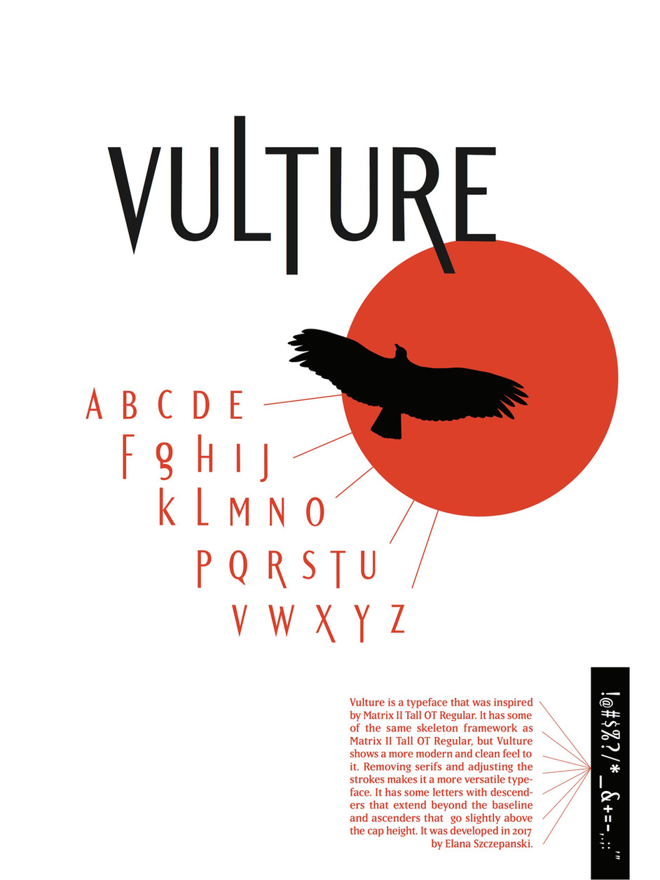 Vulture Typography Poster