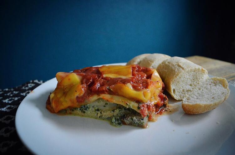 Cannelloni met spinazie en vegan ricotta