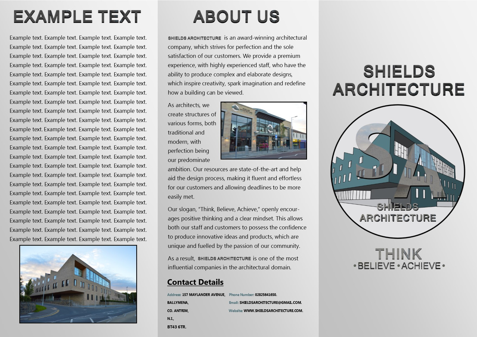 shields architecture brochure shields design logo packaging