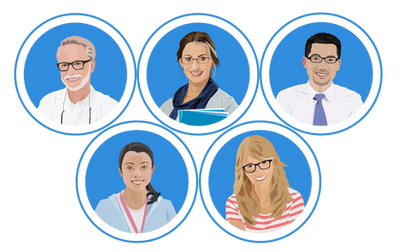 Characters for E-Learning module