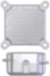 AfriDock Block (Cloud Grey colour only).