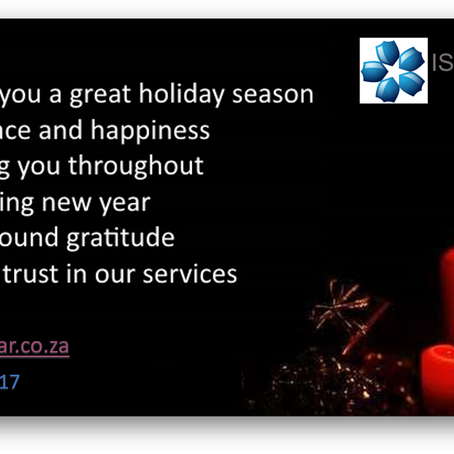 SEASONS GREETINGS FROM ALL OF US AT ISOQAR AFRICA
