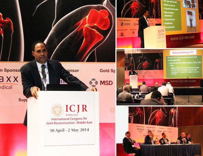April 2014 Dr. William Murrell speaking at the prestigious ICJR Middle East