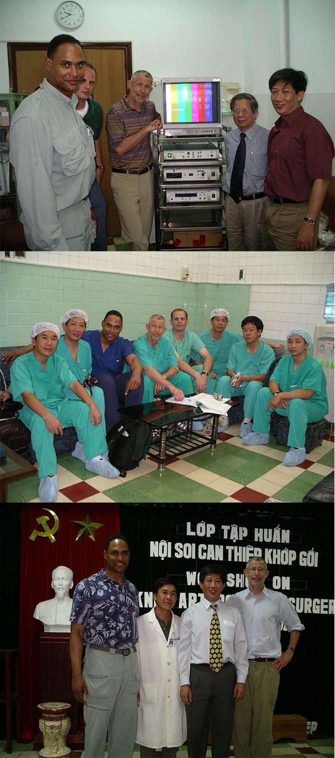 Instructing a Knee Arthroscopy Training Course in Vietnam