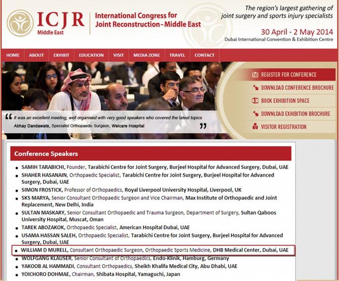 April 2014 International Congress for Joint Reconstruction