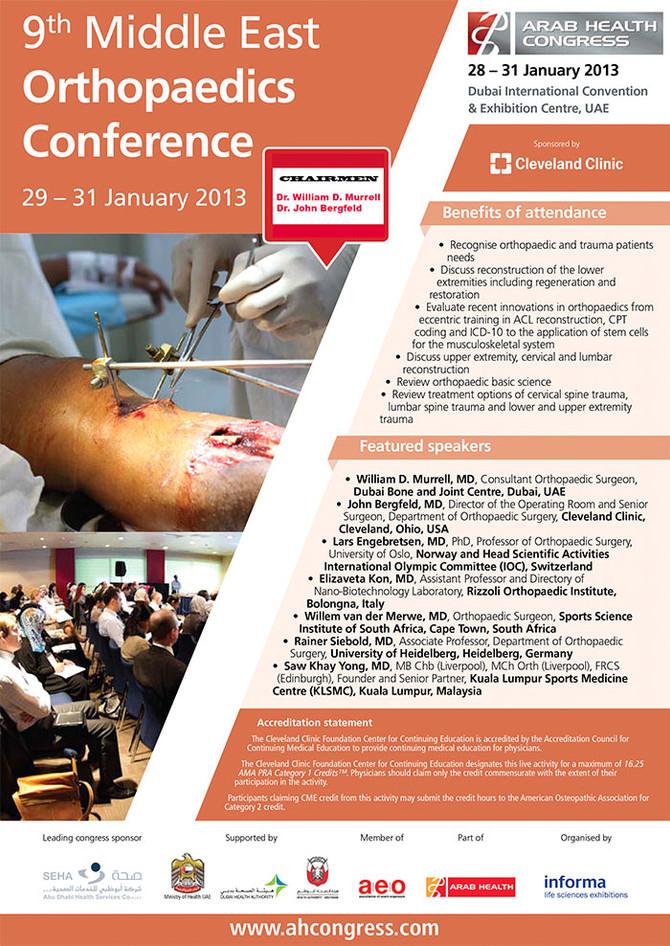 9th Middle East Orthopaedic Conference, Burj Khalifa