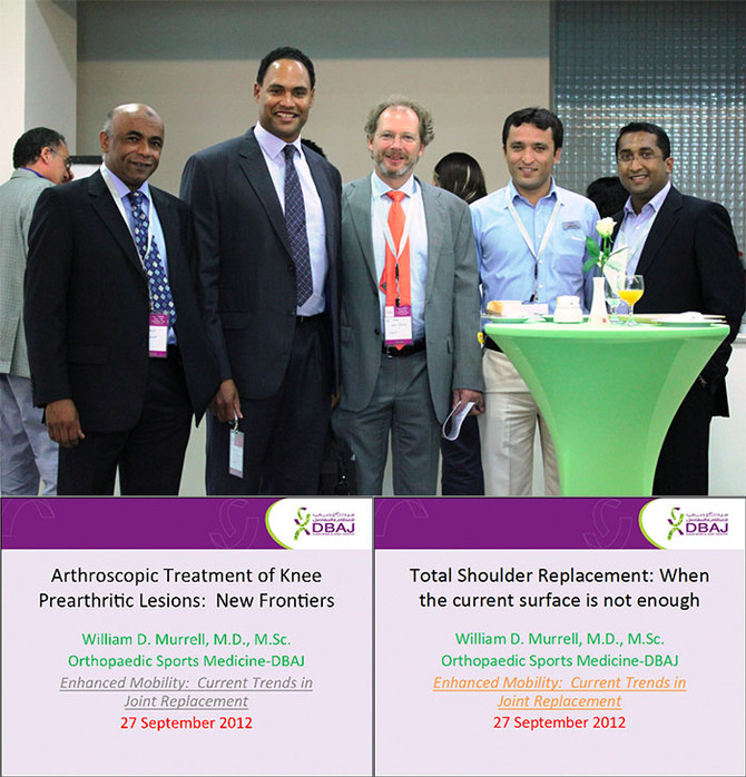 Stem Cell and Total Shoulder Replacement Presentation in Healthcare City, Dubai