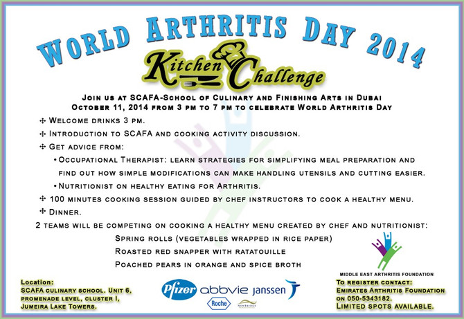 World Arthritis Day 2014: Attention suffers of shoulder, knee, and elbow pain – Dr. Murrell invited