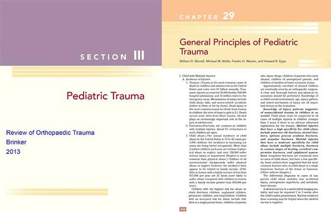 Orthopaedic Pediatric Trauma