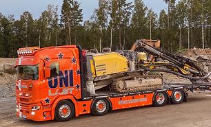 Specialtransporter, Maskintransporter, Maskinbil, Scania, Lastbil