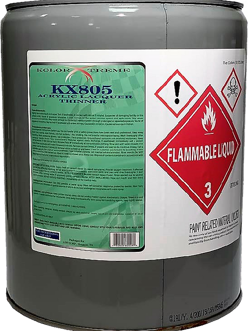 KX805 Kolor  Xtreme  Acrylic  Lacquer  Thinner 5  Gal.