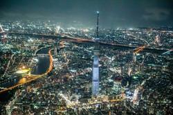 夜景 空撮 ヘリ 東京