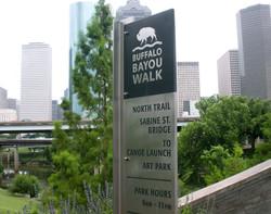 Buffalo Bayou Wayfinding System