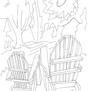 28231 - Two Adirondack Chairs