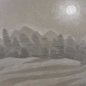 27033 - Moon in Keene Valley