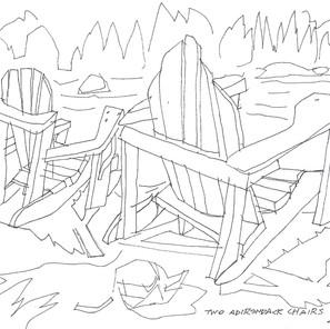 28191 - Two Adirondack Chairs