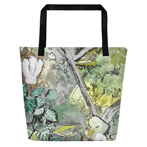 Cyclamen Water-colour by B'lu | Beach Bag