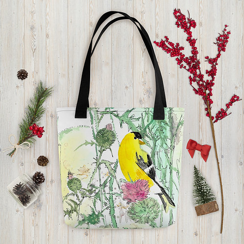 Goldfinch Water-colour by B'lu | Tote bag