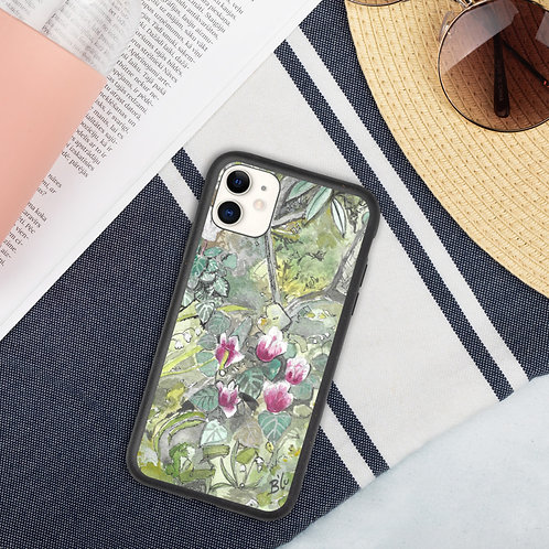 Cyclamen Floral Biodegradable iPhone case